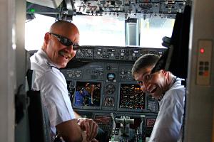 Entrée dans le cockpit : pilotage