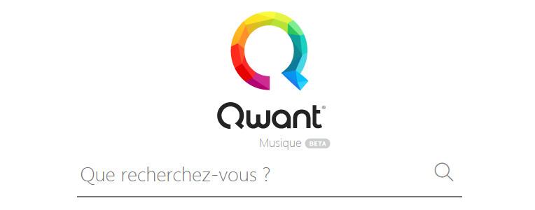 Le moteur de recherche Qwant Music