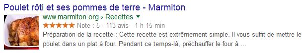 Title affiché dans la SERP Google
