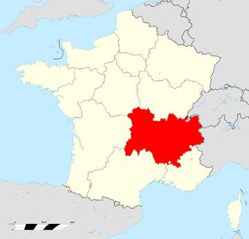 Carte de France - Auvergne-Rhône-Alpes