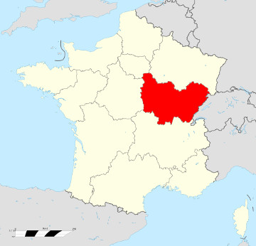 Carte de France - Bourgogne Franche-Comté