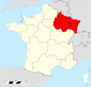 Carte de France - Grand-Est