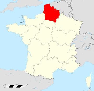 Carte de France - Hauts de France