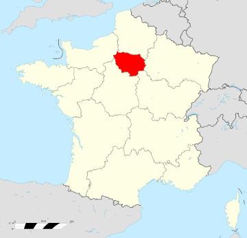 Carte de France - Île de France