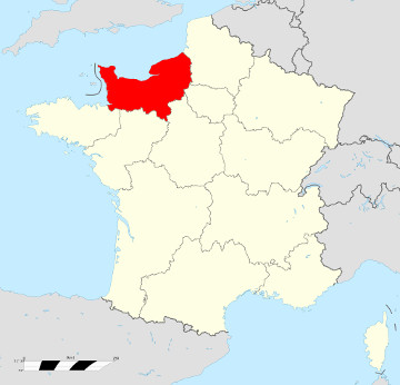 Carte de France - Normandie