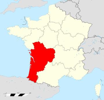 Carte de France - Nouvelle Aquitaine