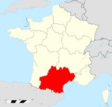 Carte de France - Occitanie