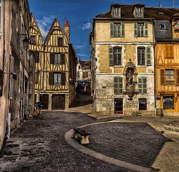Auxerre vieille ville en Bourgogne