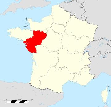 Carte de France - Pays de la Loire