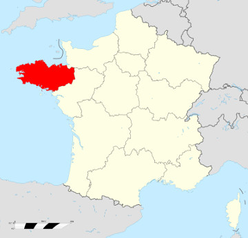 Carte de France - Bretagne